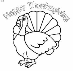 Pictures Of Thanksgiving Pics Happy To Color For Kids Graphics N Backgrounds