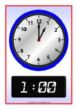O'clock analogue and digital time posters (SB5079) - SparkleBox