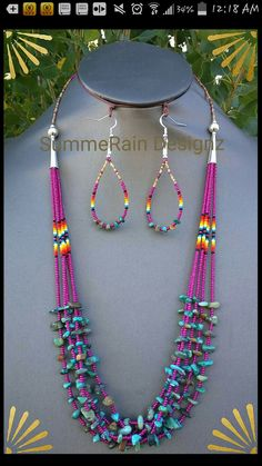 (notitle) – Hanna Ellis – Join in the world of pin Beaded Earrings Native, Beaded Necklace Patterns, Bead Earrings, Beaded Bracelets, Necklaces, Seed Bead Jewelry, Bead Jewellery, Collar Hippie, Beadwork Designs