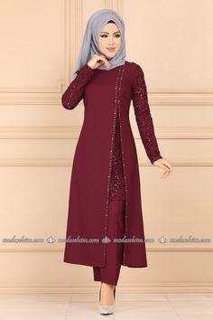 Stamp Sequined Hijab Evening Dress Suit Claret Red - Sequined Veiling Evening Dress Set Claret Red, to # the - Pakistani Fashion Casual, Pakistani Dress Design, Abaya Fashion, Muslim Fashion, Fashion Dresses, Fashion Styles, Fashion Fashion, Stylish Dresses For Girls, Stylish Dress Designs