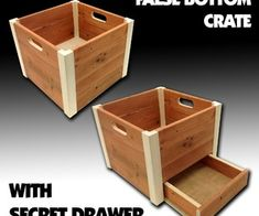 False Bottom Wooden Crate. Even without the false bottom these are sharp looking crates.