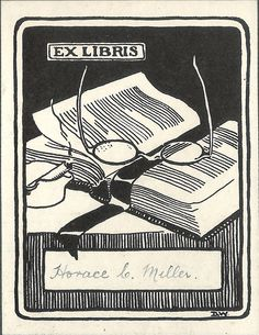 Universal bookplate. Horace E. Meller was a Private of British Army Veterinary Corps during the WWI