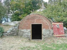 1843 Brick Arched Root Cellar Entrance New London CT