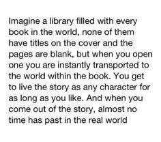 'Imagine a library..' I would love it <3 #Imagine