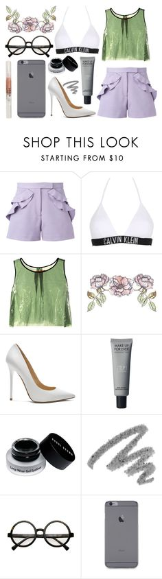 """Smile"" by morganamerica ❤ liked on Polyvore featuring Elie Saab, Calvin Klein, Clover Canyon, Universal Lighting and Decor, Jimmy Choo, Bobbi Brown Cosmetics, Yves Saint Laurent and Stila"