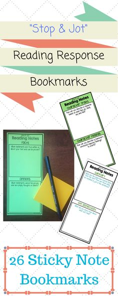 26 bookmarks covering a wide range of reading skills and strategies! Comes in 2 sizes to fit smaller and standard-size sticky notes!