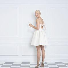 12acb7527ee88 Ross Short White Open Back Wedding Reception Dress   Rehearsal Dinner Dress.  Jane Summers