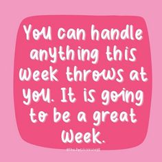 It's going to be a great week Great Week, Have A Great Day, Morning Motivation, Monday Motivation, Words Of Wisdom Quotes, Illustrators On Instagram, Happy Monday, It's Monday, You Can Do