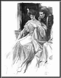 "Harrison Fisher-1906-Desmond Ellery and the Countess Frina Mavrodin from ""The Princess of Maritza"""
