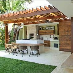 "Outstanding ""outdoor kitchen designs"" information is offered on our internet site. Check it out and you wont be sorry you did. Backyard Patio Designs, Pergola Designs, Backyard Landscaping, Backyard Pergola, Outdoor Pergola, Swimming Pool Landscaping, Backyard Layout, Small Backyard Pools, Pergola Plans"