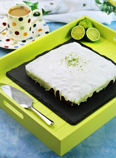 Easy Iced Lime Cake - Fab Food 4 All