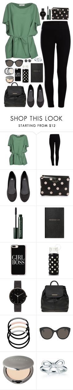 """""""e l a i n e"""" by anabelle-grace ❤ liked on Polyvore featuring Valentino, Pieces, H&M, Kate Spade, Clinique, Smythson, Casetify, I Love Ugly, Dorothy Perkins and L. Erickson"""