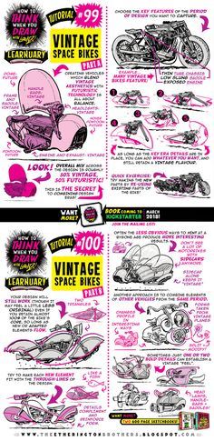 Okay, here we go! LEARNUARY day 1! Let's kick this thing off with my 100th tutorial - which looks at how to THINK when you draw VINTAGE SPACE BIKES! PLUS, LOADS of EXTRA CONTENT for LEARNUARY is go...
