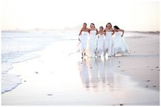 Five friends made a decision that once the last of the group get married, they would all get back into their dresses one last time  do a photo shoot. - Love this idea I hope me and my bestfriends do this