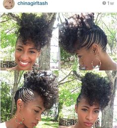 Natural hair styl