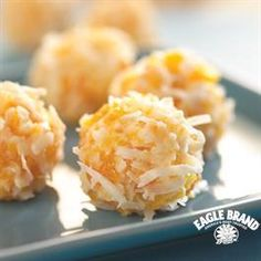 Apricot Coconut Balls from Eagle Brand    I also added dome dried cranberries to some for a festive touch!