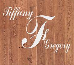 Personalized Wedding Dance Floor Monogram Decal Sticker