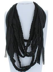 Black Braided Infinity Scarf Black Braids, Color Combinations, Infinity, Scarves, Boutique, Pattern, Fashion, Color Combos, Scarfs