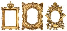Golden picture frames JPG by LiliGraphie on Creative Market