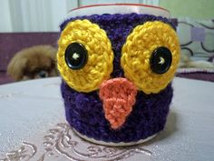BECK to Vintage: Owl Mug Cozy..:)) no pattern, just inspiration