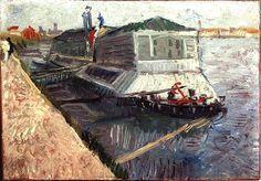 Vincent van Gogh - Bathing Float on the Seine at Asnieres 1887