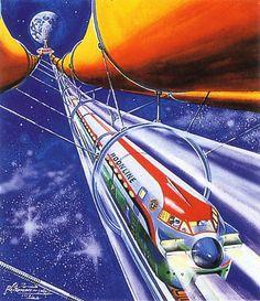 Space train, 1981Shigeru Komatsuzaki (1915-2001)