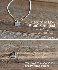 Hand stamped jewelry, I didnt know it was so easy. I really want to make this for my brothers christmas present with his newborn sons name!
