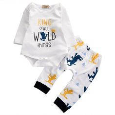 King Of All Wild Things Baby Boy Outfit