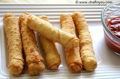 Easy Indian Cheese (Paneer) Snacks - Cigar Rolls Recipe - I have time in the summer to make these :)