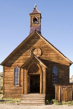 Abandoned church in Bodie, California