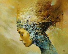 Beautiful Queen / African Art | Karol Bak