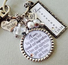 PERSONALIZED MOTHER of the BRIDE gift thank you gift by buttonit