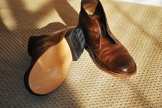 Clarks Desert Boots, resoled with leather