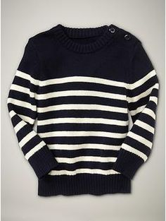 baby GAP striped button sweater