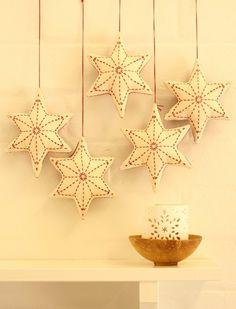 Sashiko Christmas Star Decoration