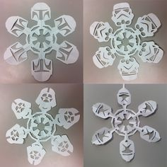 STAR WARS SNOWFLAKES!!!.....*sigh* If only I had a crafty bone in my body!! those Boba Fett ones are pretty much the greatest things I have ever seen