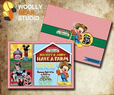Mickey Mouse farm invites