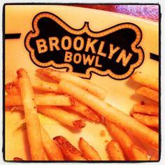 Instagram photo by #zenpop. :: Food by Blue Ribbon // #Food #NYC #Brooklyn #BrooklynBowl #BlueRibbon #FrenchFries #Bowling