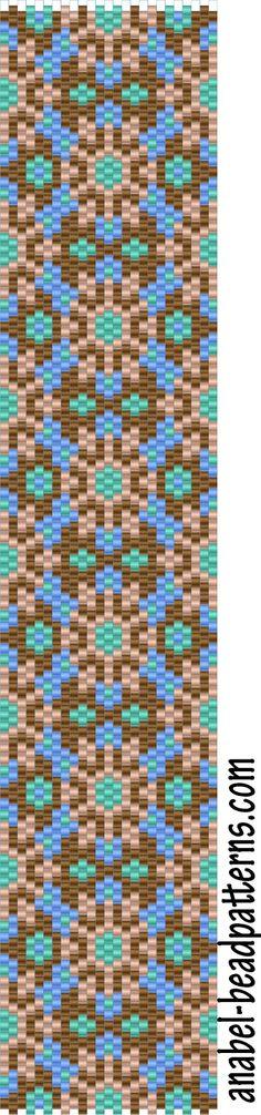 4 bracelets scheme - mosaic / 4 free peyote patterns | - Plans for beading / Free bead patterns -