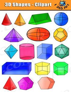 how to make a cone shapes three dimensional pinterest rh pinterest com 3d geometric shapes clipart pyramid 3d shape clipart