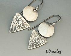 New jewerly earrings silver jewels 69 ideas Silver Necklaces, Sterling Silver Earrings, Dangle Earrings, Silver Jewellery, Jewlery, Jewelry Bracelets, Cleaning Silver Jewelry, Jewelry Quotes, Handmade Silver