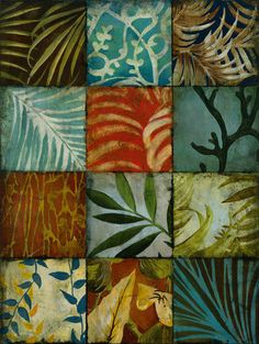 And more boho tiles # Tile Patterns IV Art Print by John Douglas