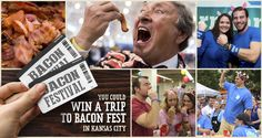 Enter to #WIN a trip to KC Bacon Fest. Bacon, beer, music, & more #bacon await. #FarmlandBaconClub @BaconFestKC
