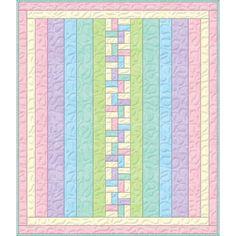 Wilmington Prints Criss Cross Essential Flannel Pink Purple Nap Quilt Kit 47 by 56 | Precuts