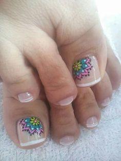 Resultado de imagen para mejores decorados de uñas de pies Pedicure Nail Art, Toe Nail Art, Toe Nail Designs, Nail Polish Designs, Love Nails, Pretty Nails, Funky Fingers, Feet Nails, Stamping Nail Art