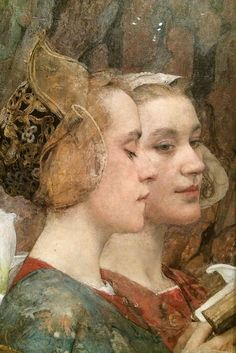 Fleurs du Lac, 1900, by Edgar Maxence (French, 1871–1954). Oil on canvas