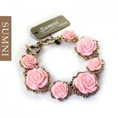 Yellow/Pink Flower Bracelet