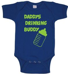 Daddys drinking buddy Infant One Piece baby clothes boy girl cute funny vintage retro newborn 0-3 3-6 6-12 12-18 18-24 months on Etsy, $11.00