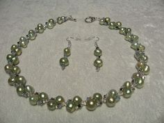 Cultured Freshwater Pearl Aloe & Swarovski Crystal OP Star Shine  #LittlePearlShop
