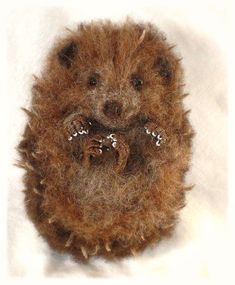 Needle Felted Hedgehog by FireflyFelts on Etsy